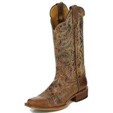Justin Women's Bent Rail Boots- Tan Buffalo