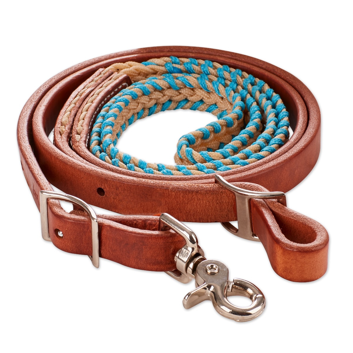 Tory Leather Waxed/Laced Barrel Reins