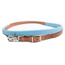 Tory Leather Rubber Wrapped Barrel Reins