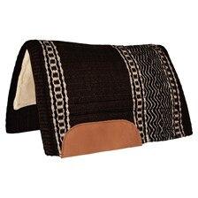 Mustang New Zealand Wool Blanket Top Pad- Black/Cream