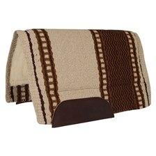 Mustang New Zealand Wool Blanket Top Pad- Cream/Brown