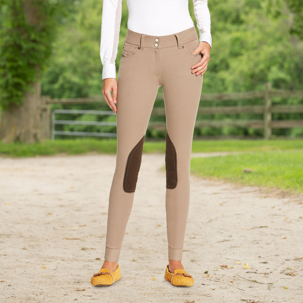 Ariat Fashion 5 Pocket Knee Patch Breech