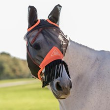 Shires Fine Mesh Fly Mask w/ Ears & Nose Fringe - Clearance!