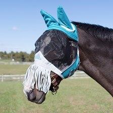 Shires Fine Mesh Fly Mask w/ Ears & Nose Fringe