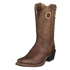 Ariat Men's Heritage Roughstock Boot - Brown Oiled Rowdy
