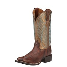 Ariat Women's Round Up Wide Square Toe - Yukon Brown