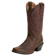 Ariat Women's Round Up Square Toe Boots - Powder Brown