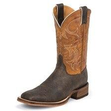 Justin Men's Bent Rail Caddo Boots - Dark Chocolate