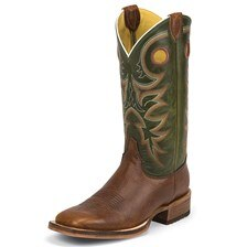 Justin Men's Bent Rail Kerrville Boots - Copper Caprice