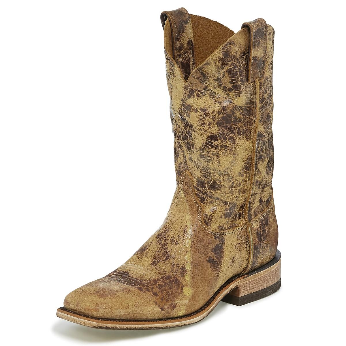 Justin Men's Bent Rail Seguin Boots - Tan Road