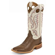 Justin Men's Bent Rail Stillwater Boots - Chocolate
