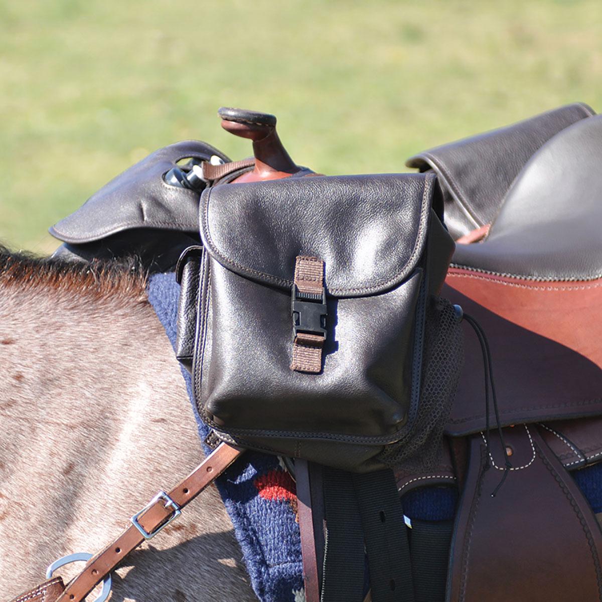Cashel Leather Medium Horn Saddle Bag