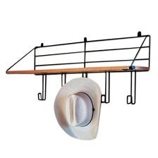 Wood Shelf - 5 Hooks
