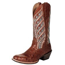 Noble Outfitters™ Women's Genuine Ostrich All Around Tapered Square Toe Sahara