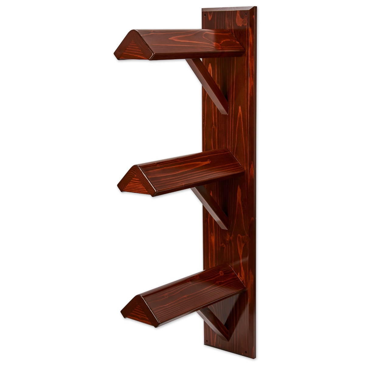 Triple Wood Wall Mount Saddle Stand