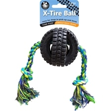 Pet Qwerks Jingle X-Tire Ball™ with Rope
