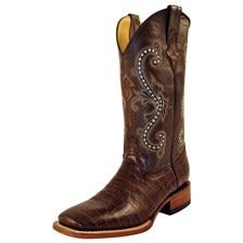 Ferrini Men's Print Belly Alligator Boots