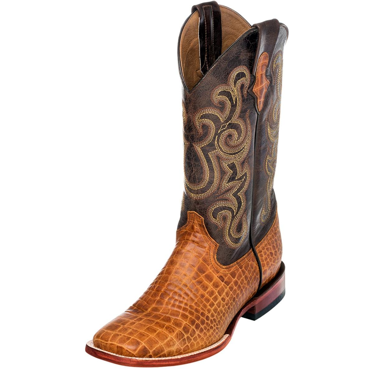 Ferrini Men's Print Caiman Belly Boots