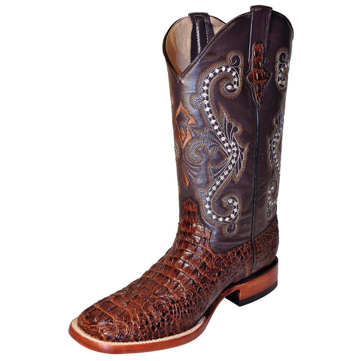 Ferrini Men's Print Caiman Wide Square Toe Boots