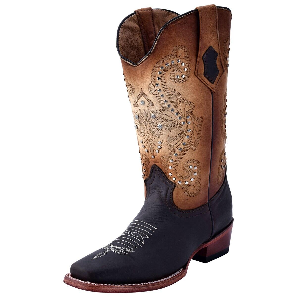 Ferrini Women's Studded Cowgirl Square Toe Boots