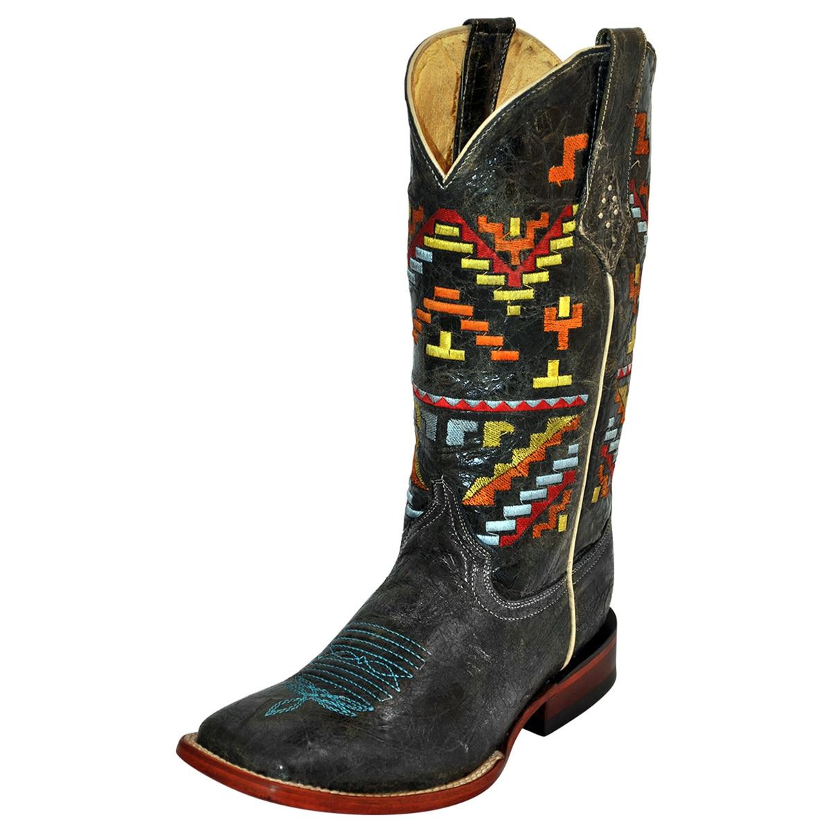 Ferrini Women's Aztec Cowgirl Wide Square Toe Boots