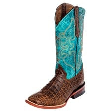 Ferrini Women's Print Caiman Belly Boots