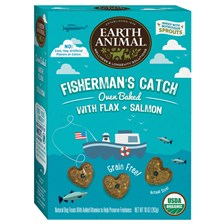 Earth Animal® Organic Oven Baked Dog Cookies - Fisherman's Catch