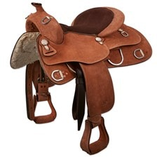 Royal King Roughout Training Saddle Suede Seat