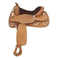 Royal King Roughout Training Saddle Leather Seat