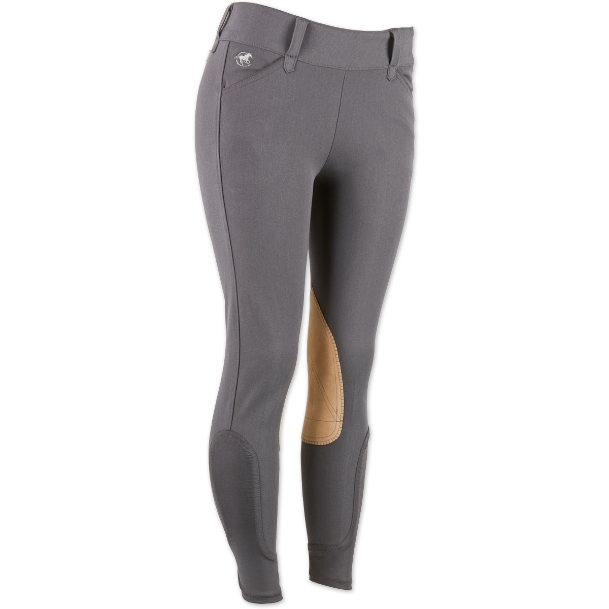 Piper Breeches by SmartPak - Tan Knee Patch Side Zip