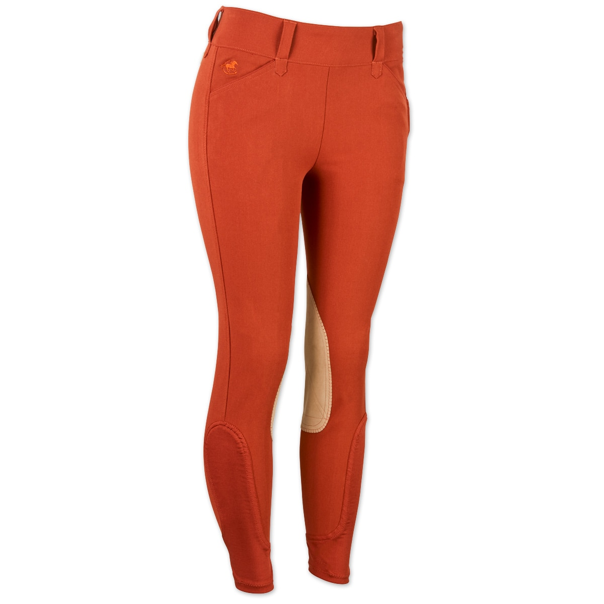 Piper Breeches by SmartPak - Tan Knee Patch Side Zip - Clearance!