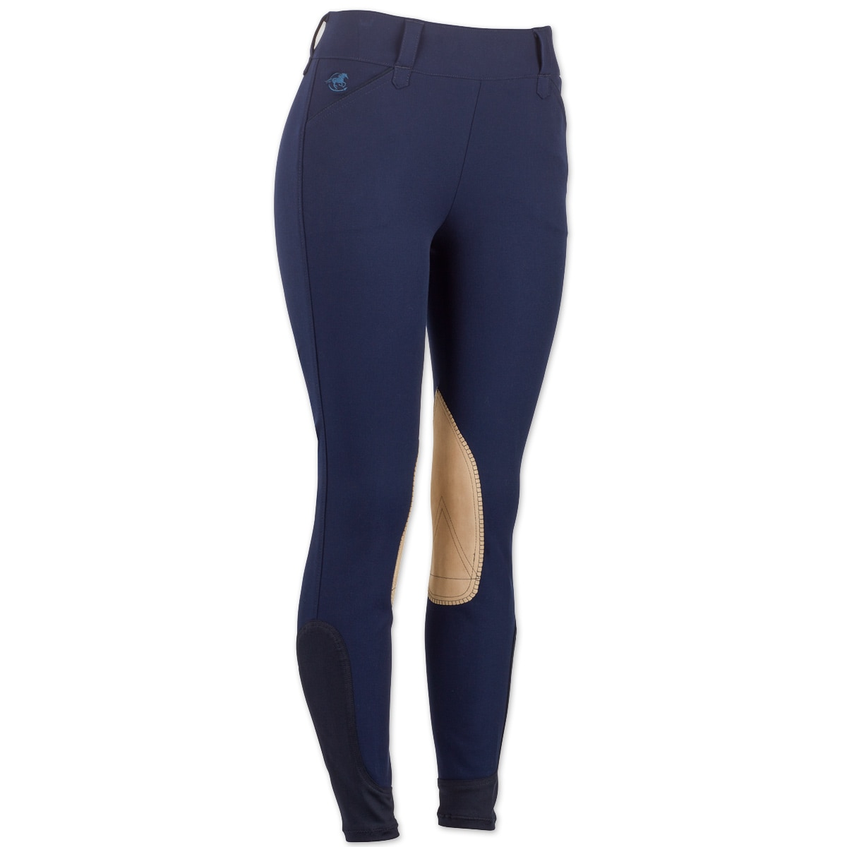 Piper Breeches by SmartPak- Tan Knee Patch Side Zip