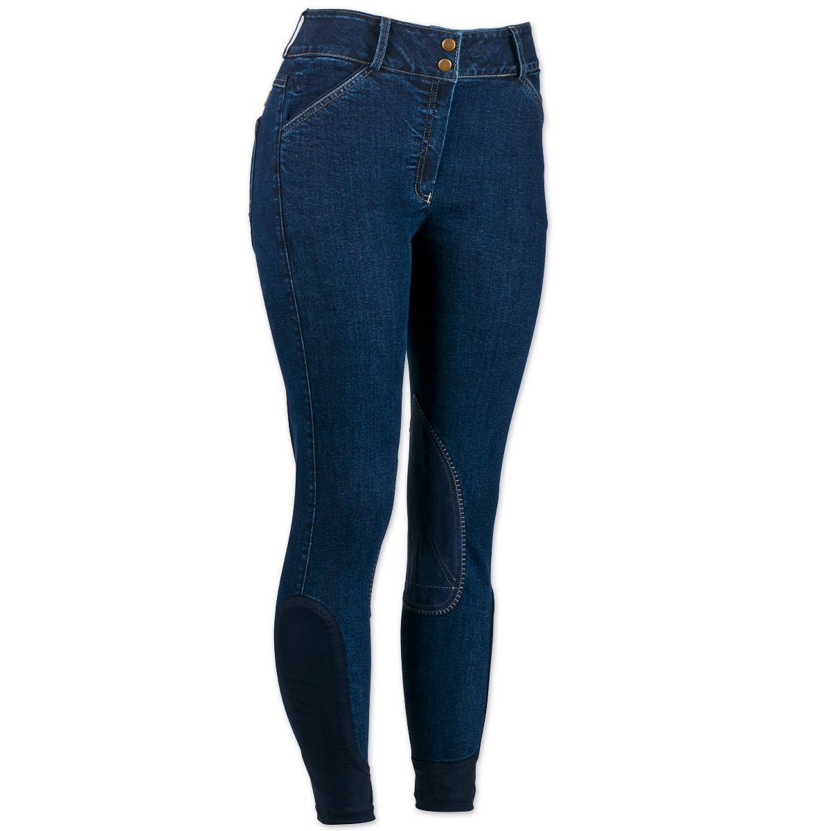 Piper Breeches by SmartPak - Denim Knee Patch