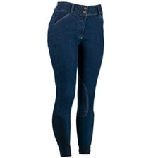 Piper Denim Low-rise Breeches by SmartPak - Knee Patch