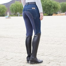 Piper Denim Low-rise Breeches by SmartPak - Full Seat