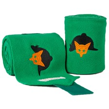 Lettia Embroidered Green International Fox Hunt Polo Wraps
