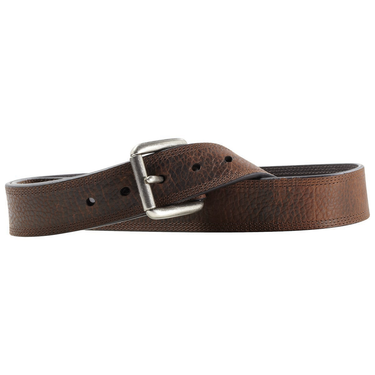 Ariat Men's Oiled Rowdy Triple Stitch Belt
