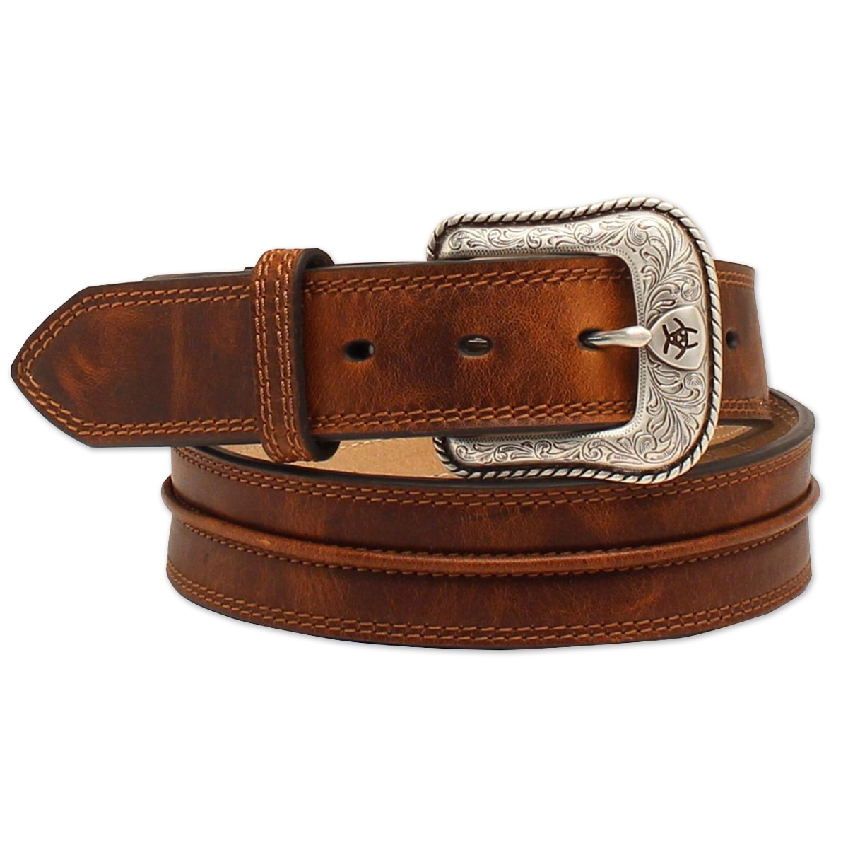 Ariat Men's Brown Center Seam Belt