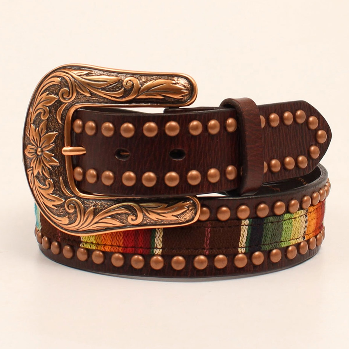 Ariat Women's Serape Copper Trim Belt