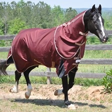 TuffRider 1680 Triple Weave Optimum with Thermo Manager Liner Detachable Neck Turnout Blanket
