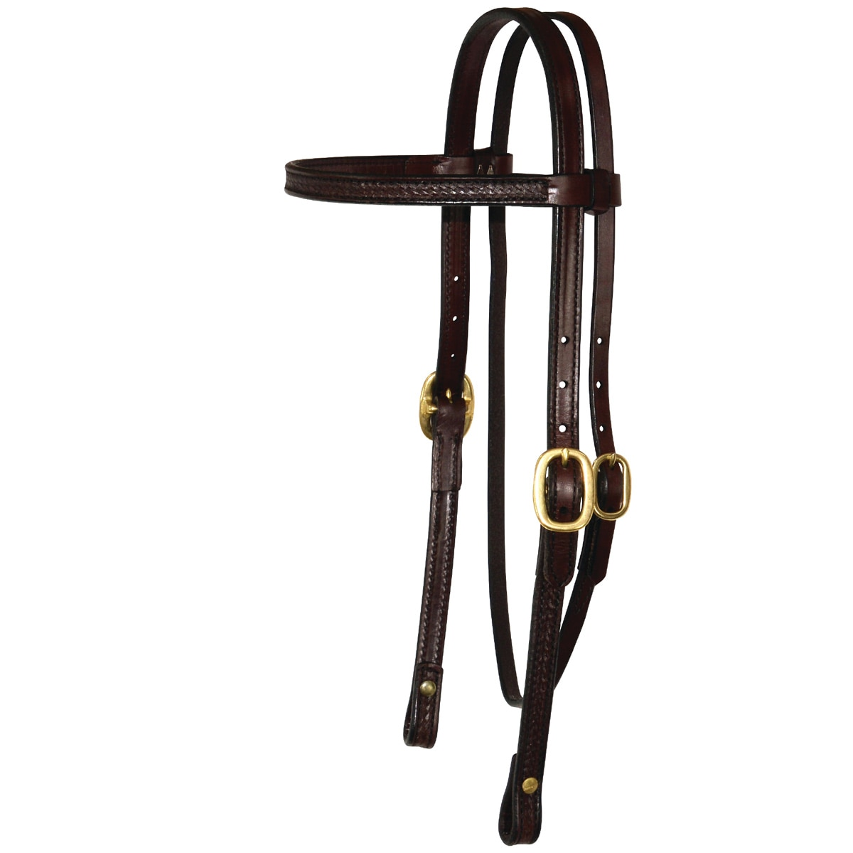 Circle Y Browband Headstall - Brass - Border Tool