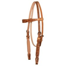 Circle Y Lily Floral Tooled Headstall