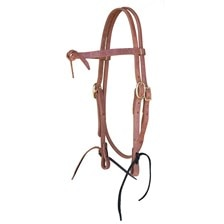 Shenandoah Knotted Browband Harness Leather Headstall