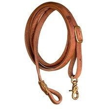 Shenandoah Flat Harness Leather Roping Reins