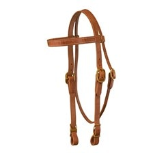 Shenandoah Harness Leather Draft Horse Bridle With Reins