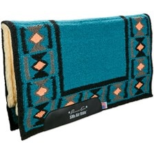SmartPak Exclusive Professional's Choice Comfort-Fit SMx Air Ride Western Pad-Hourglass-Teal/Black