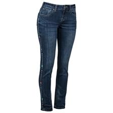Cowgirl Tuff Women's Wild Pathmaker Straight Leg Jean With Tuff Flex