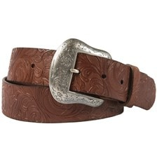 Noble Outfitter's Women's Floral Embossed Belt