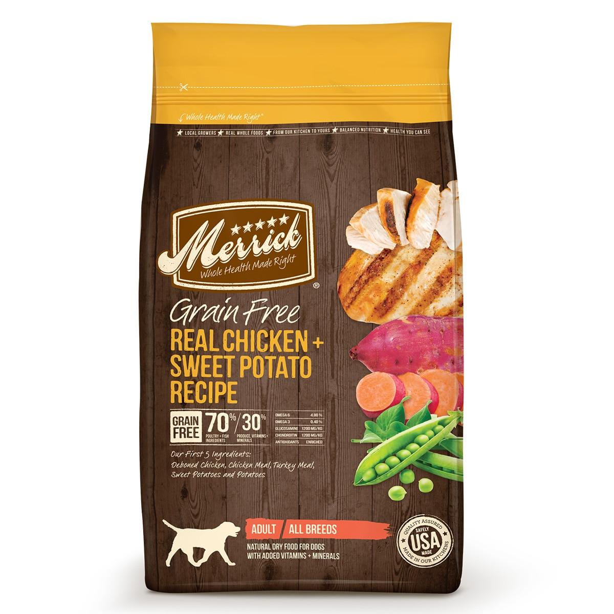 Merrick® Grain Free Real Chicken + Sweet Potato Recipe Dry Dog Food