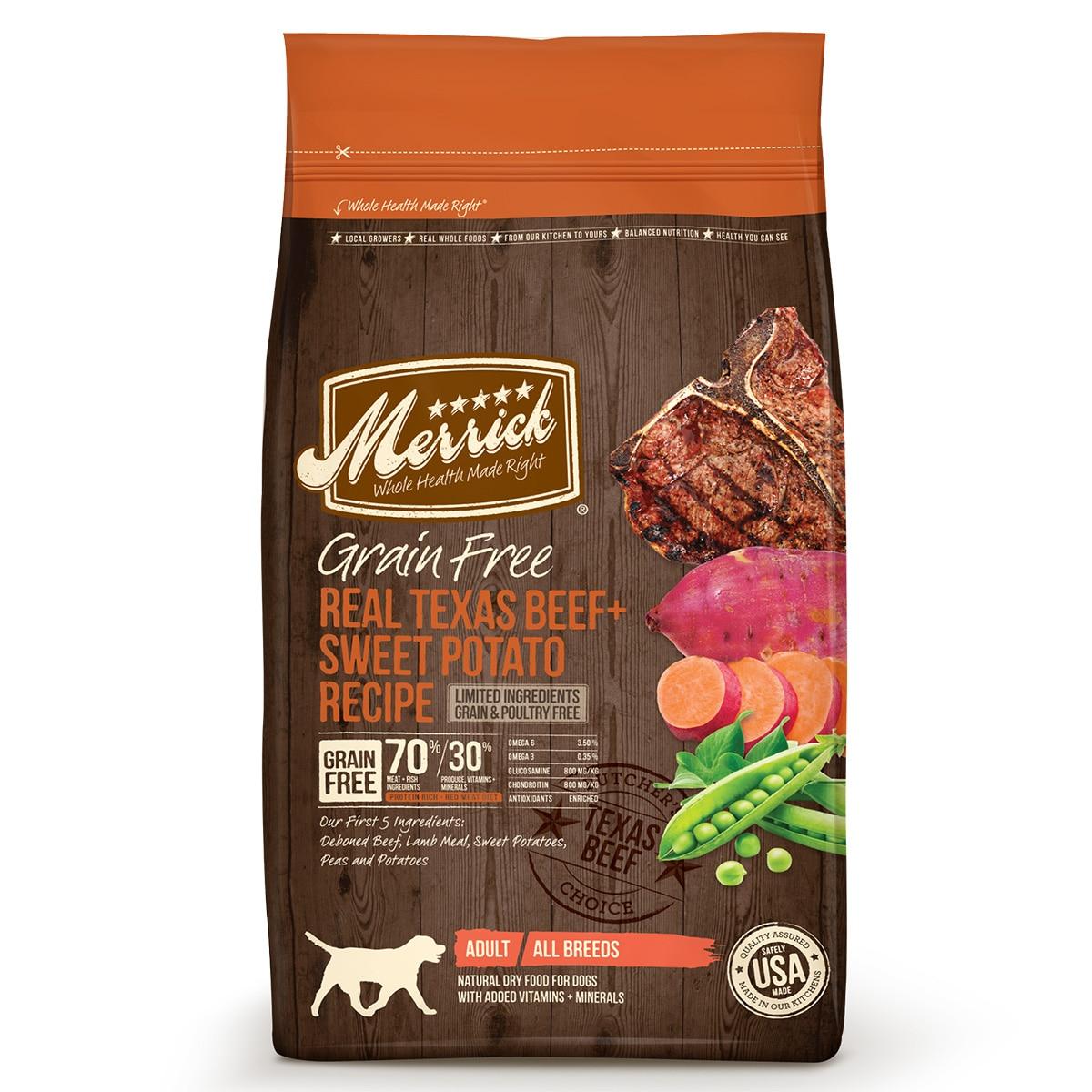 Merrick® Grain Free Real Texas Beef + Sweet Potato Recipe Dry Dog Food